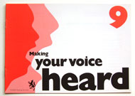 """making your voice heard"" leaflet"
